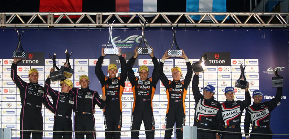 Российская  команда G-Drive Racing заняла первое место на этапе Чемпионата Мира в Бразилии