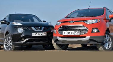 Ford EcoSport против Nissan Juke. Страшно красивые