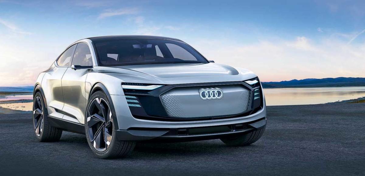 Audi e-tron Sportback Concept. На выход