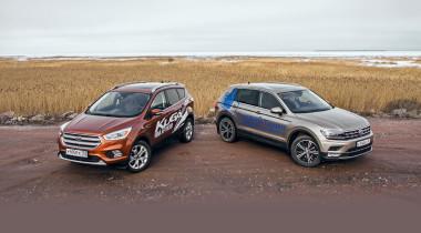 Volkswagen Tiguan против Ford Kuga. Антидепрессанты
