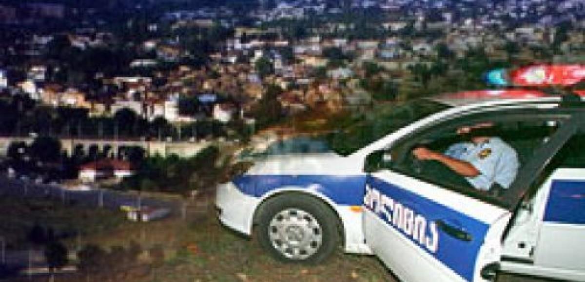 Машина МВД Грузии уничтожена взрывом