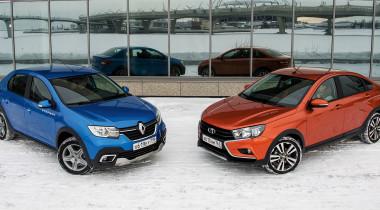 Lada Vesta Cross против Renault Logan Stepway. Сравнение бюджетных седано-кроссоверов