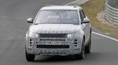 Новый Range Rover Evoque заметили на Нюрбургринге