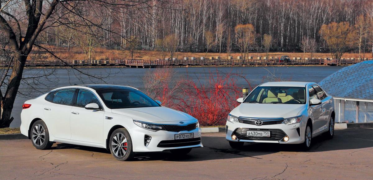 Kia Optima против Toyota Camry. Оптимальный баланс