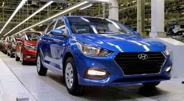 В Санкт-Петербурге начато производство нового Hyundai Solaris