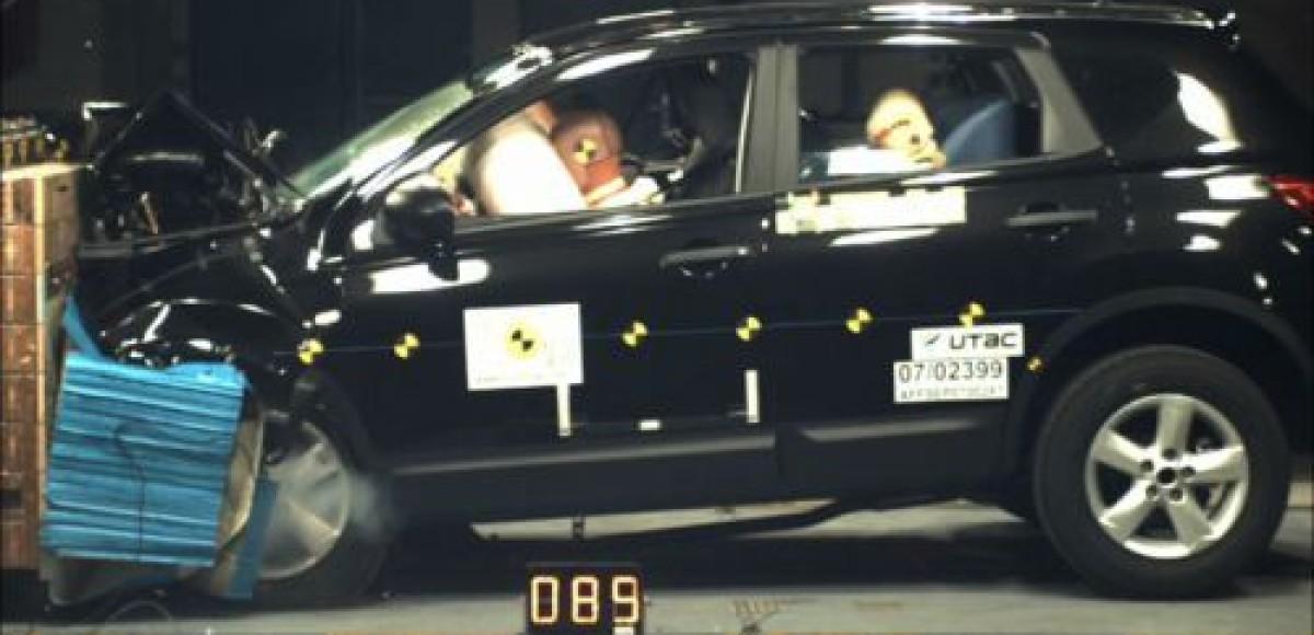 Крэш-тесты Nissan Qashqai. Испытание выдержал!