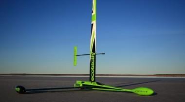 В США установлен мировой рекорд скорости для автомобиля на парусах
