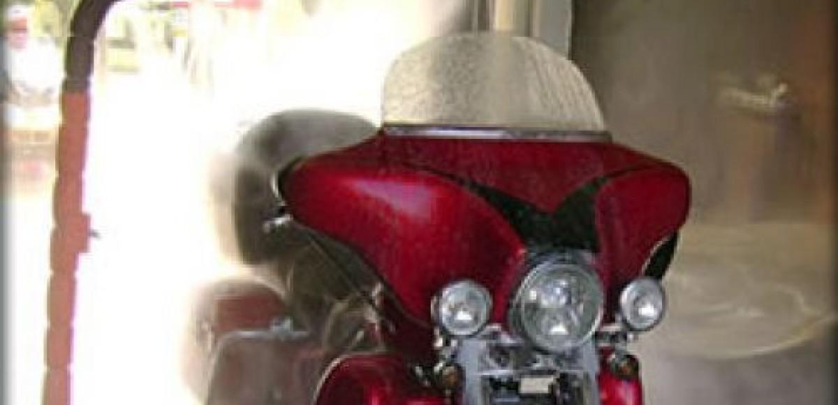 В США изобретена автомойка для мотоциклов