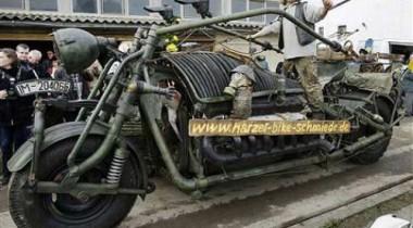 В Америке создали самый большой в мире мотоцикл