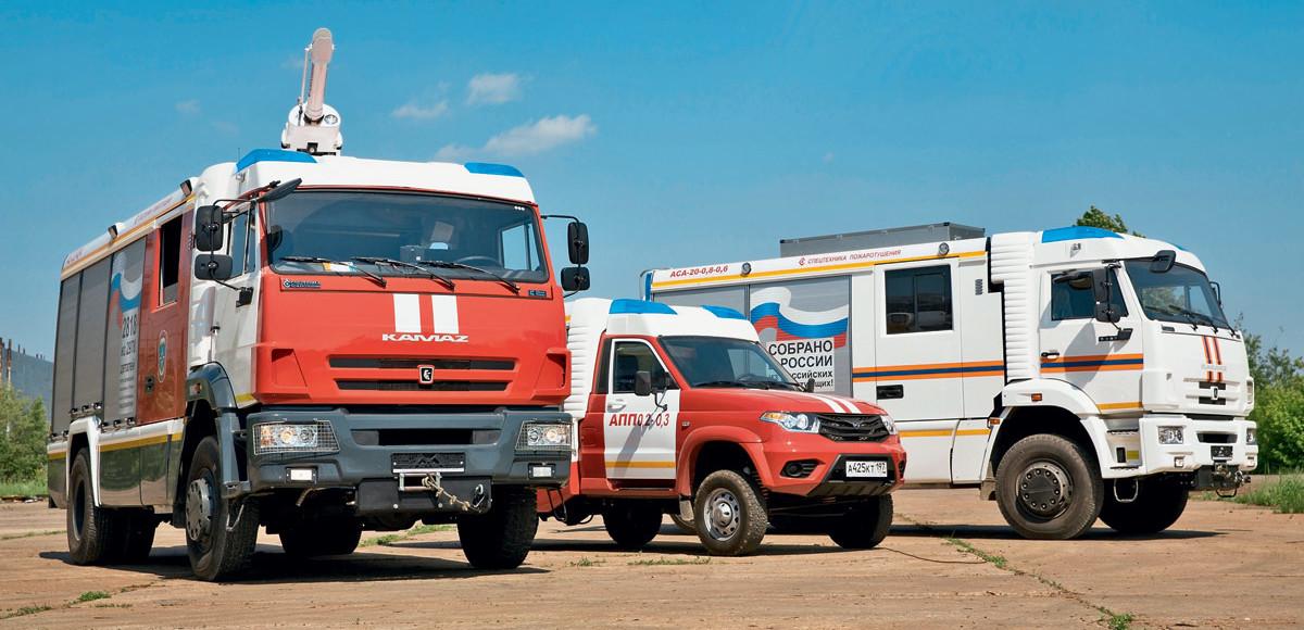 Против огненной лавины: пожарные автомобили