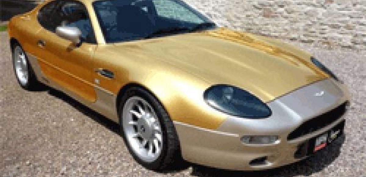В Бирмингем привезут позолоченный Aston Martin