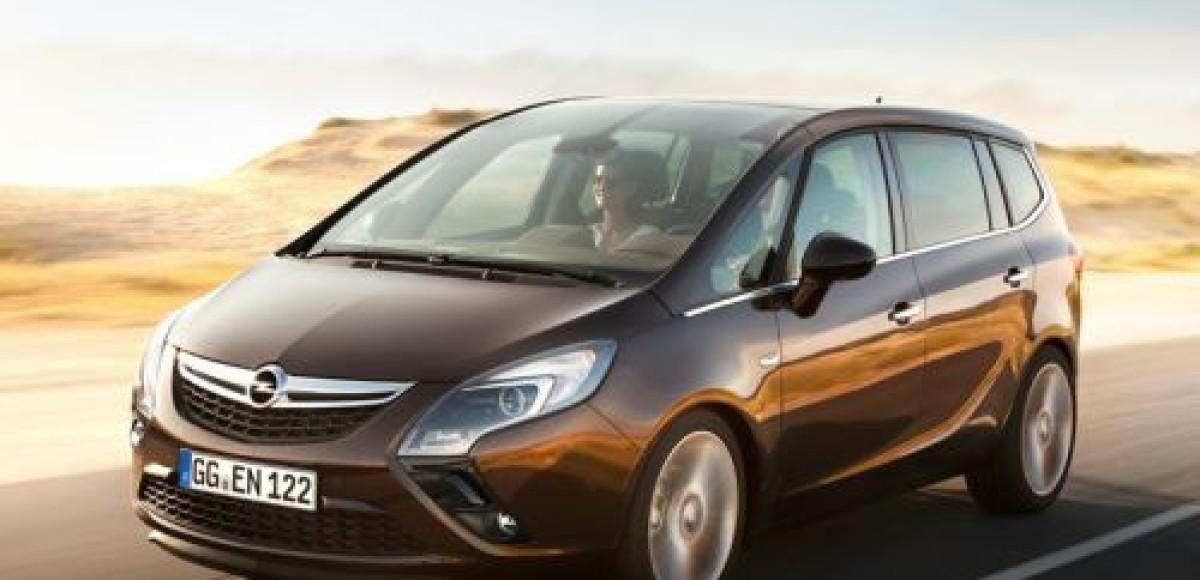 Первые фотографии Opel Zafira Tourer третьего поколения