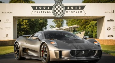 Jaguar Land Rover представила Jaguar C-X75  на Фестивале скорости в Гудвуде