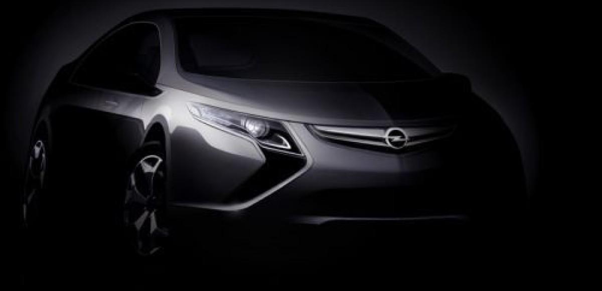 Электромобиль Opel Ampera представят в Женеве