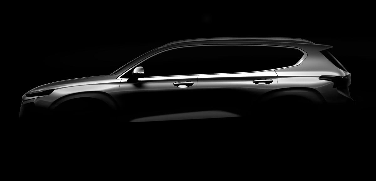 Новое поколение Hyundai Santa Fe покажут в Женеве