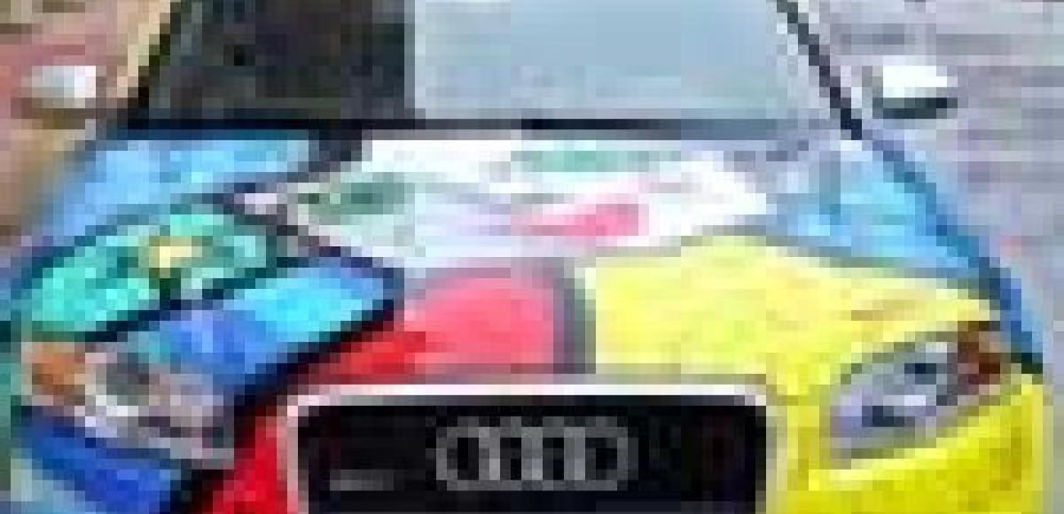 Audi RS4 в стиле неопоп-кубизма