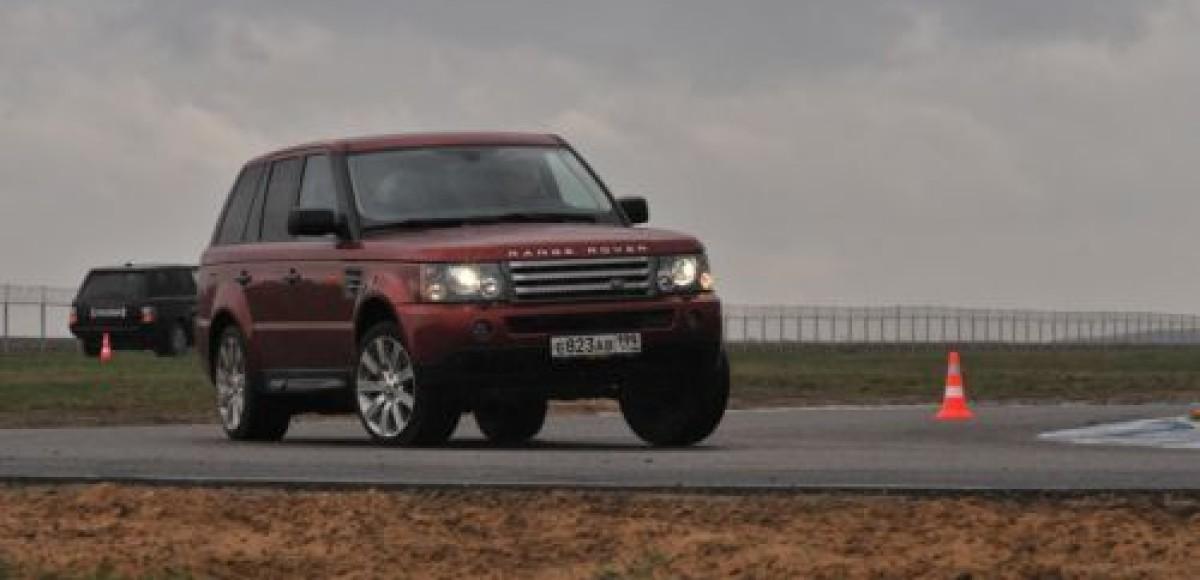 Land Rover провел большой тест-драйв на аэродроме Мячково
