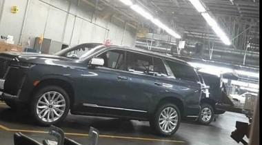 Новый Cadillac Escalade сфотографировали на конвейере