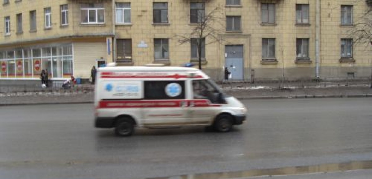 В Петербурге в ДТП сильно пострадала машина «скорой помощи»