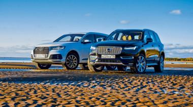 Audi Q7 против Volvo XC90. Вопрос на засыпку