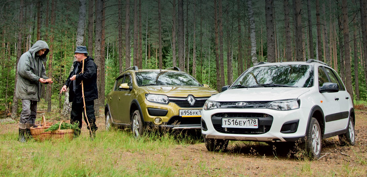 Lada Kalina Cross против Renault Sandero Stepway. Какой лес без чудес…