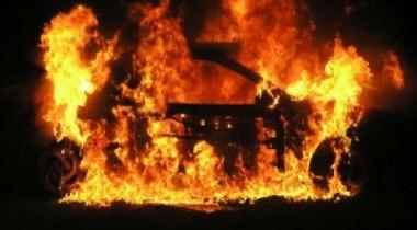В Санкт-Петербурге горел Lexus