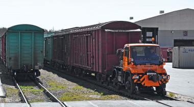«Попрыгунчик» Unimog: по железной дороге