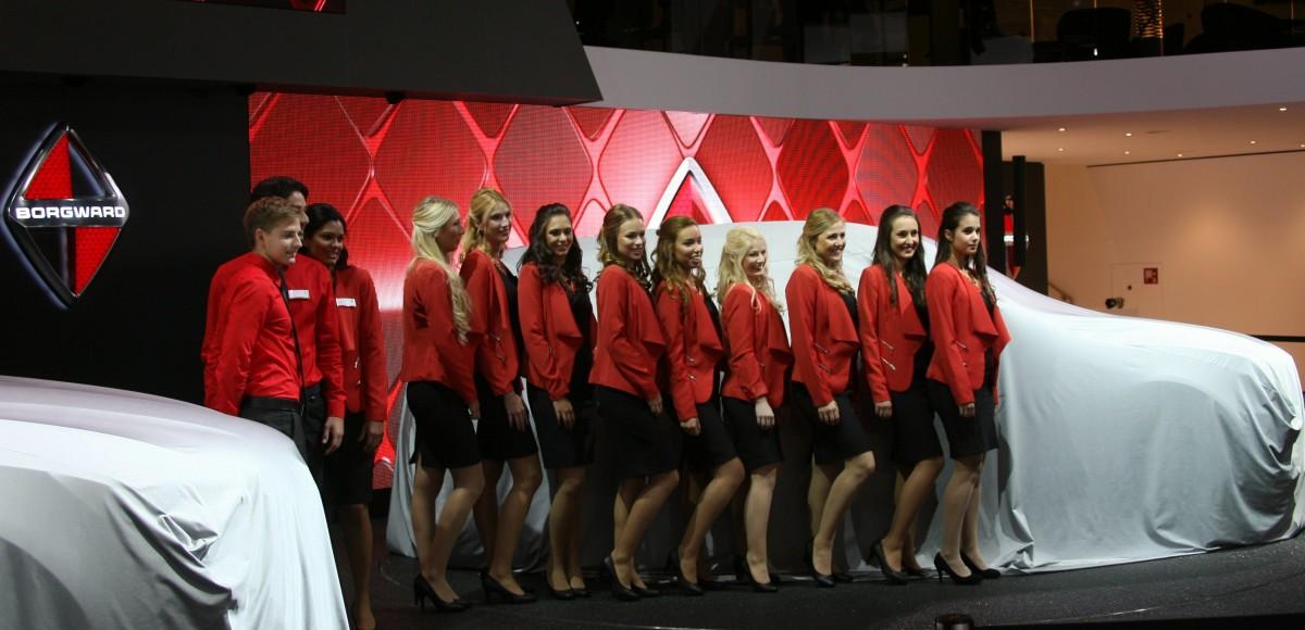 Девушки франкфуртского автосалона