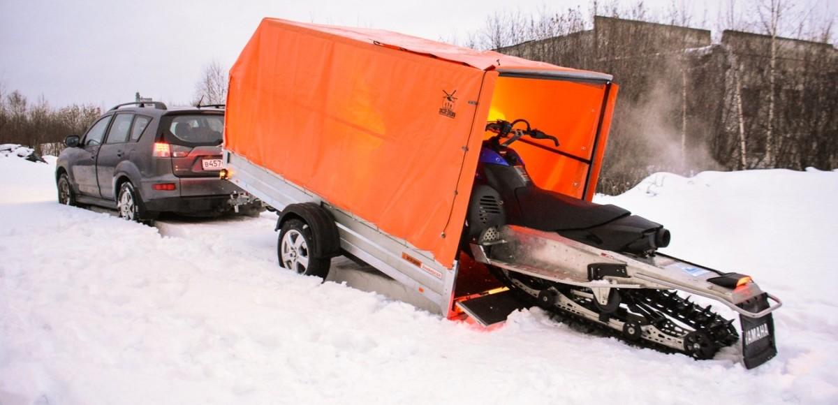 Как выбрать прицеп для перевозки снегохода