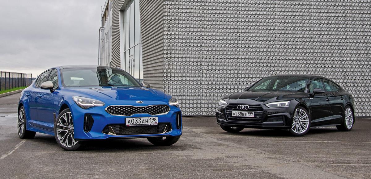 Audi A5 Sportback против Kia Stinger. Совокупность свойств