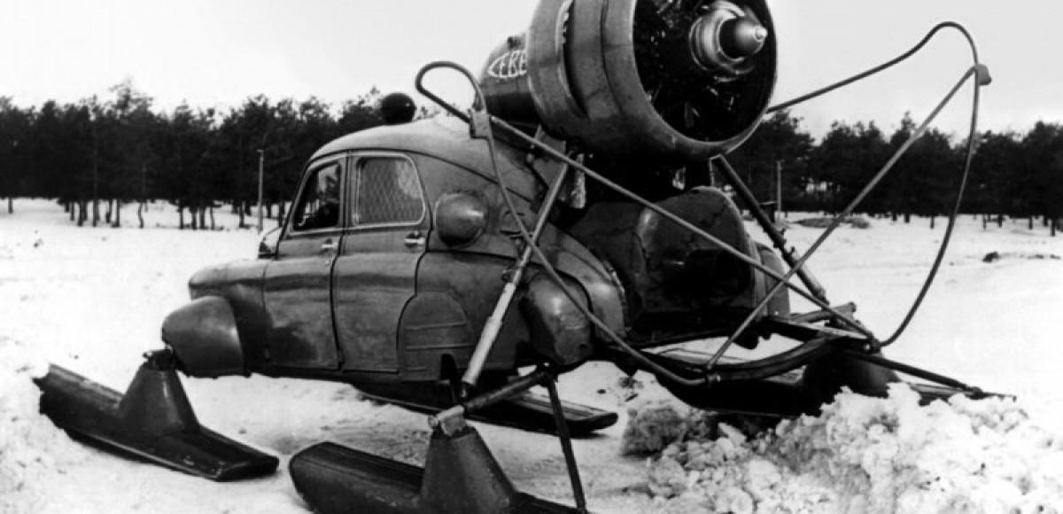Необычные снегоходы СССР