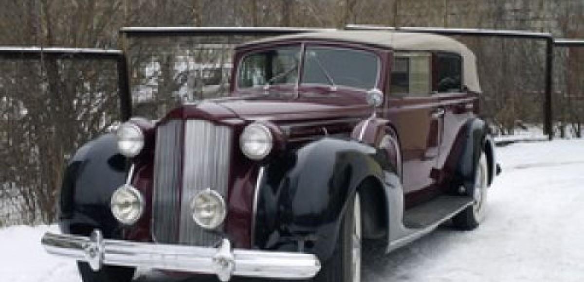 Энтузиасты-автолюбители восстановили сгоревший Packard 1608