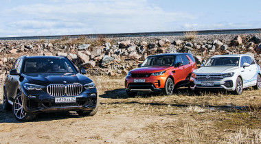 BMW X5 против Land Rover Discovery и Volkswagen Touareg. Бой без правил