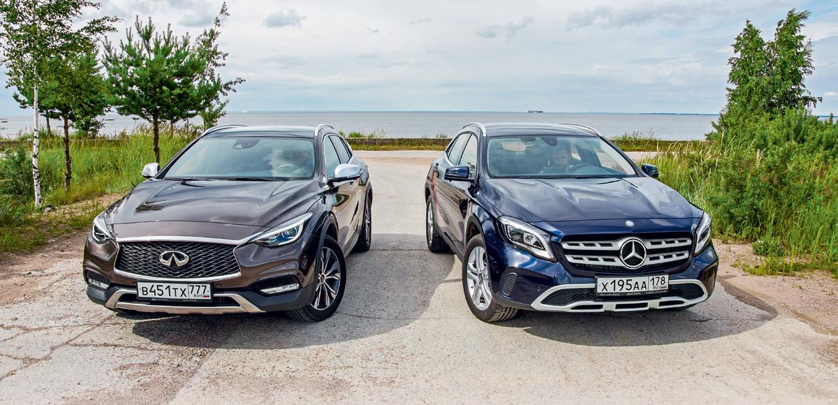 Infiniti QX30 против Mercedes-Benz GLA 250. Родня