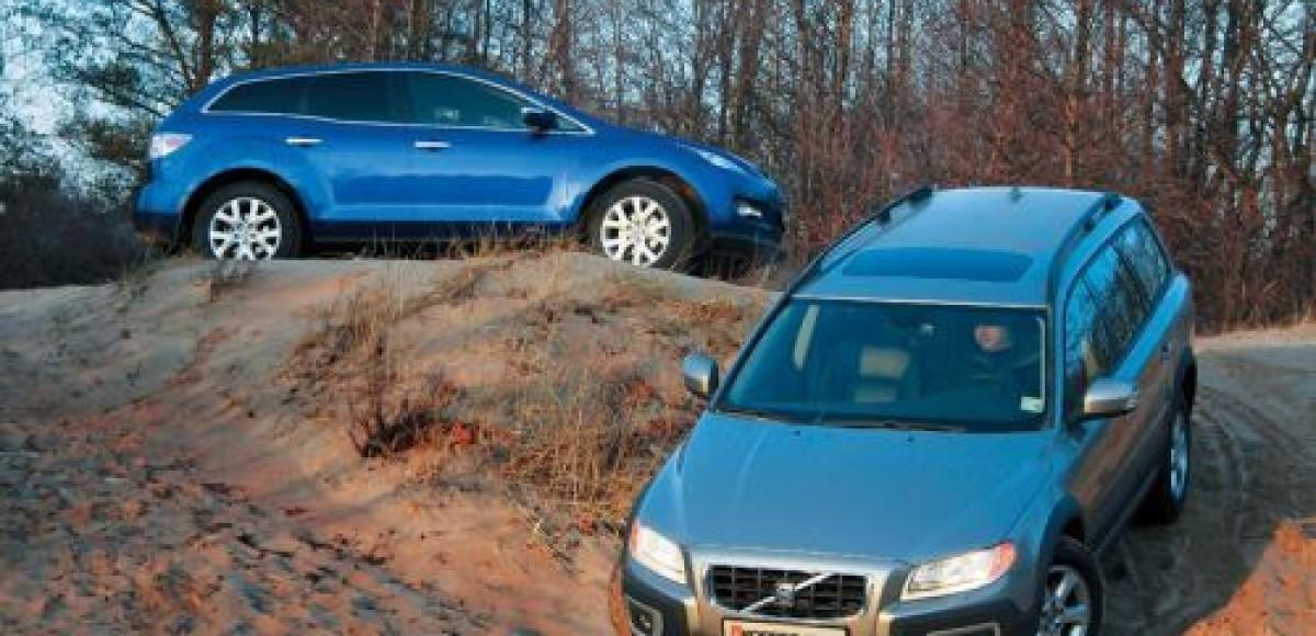 Mazda CX-7 vs Volvo XC70. Дело случая