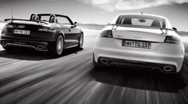 Audi опубликовала первые фото купе и родстера Audi TT RS