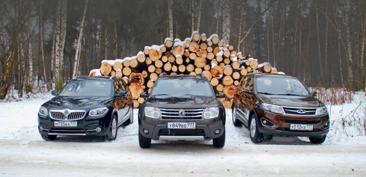 Renault Duster против Chery Tiggo 5 и Brilliance V5. Царь горы и мятежники