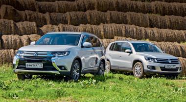 Mitsubishi Outlander против Volkswagen Tiguan. Разрыв шаблона