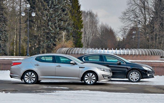 KIA Optima против Peugeot 508. Одногодки