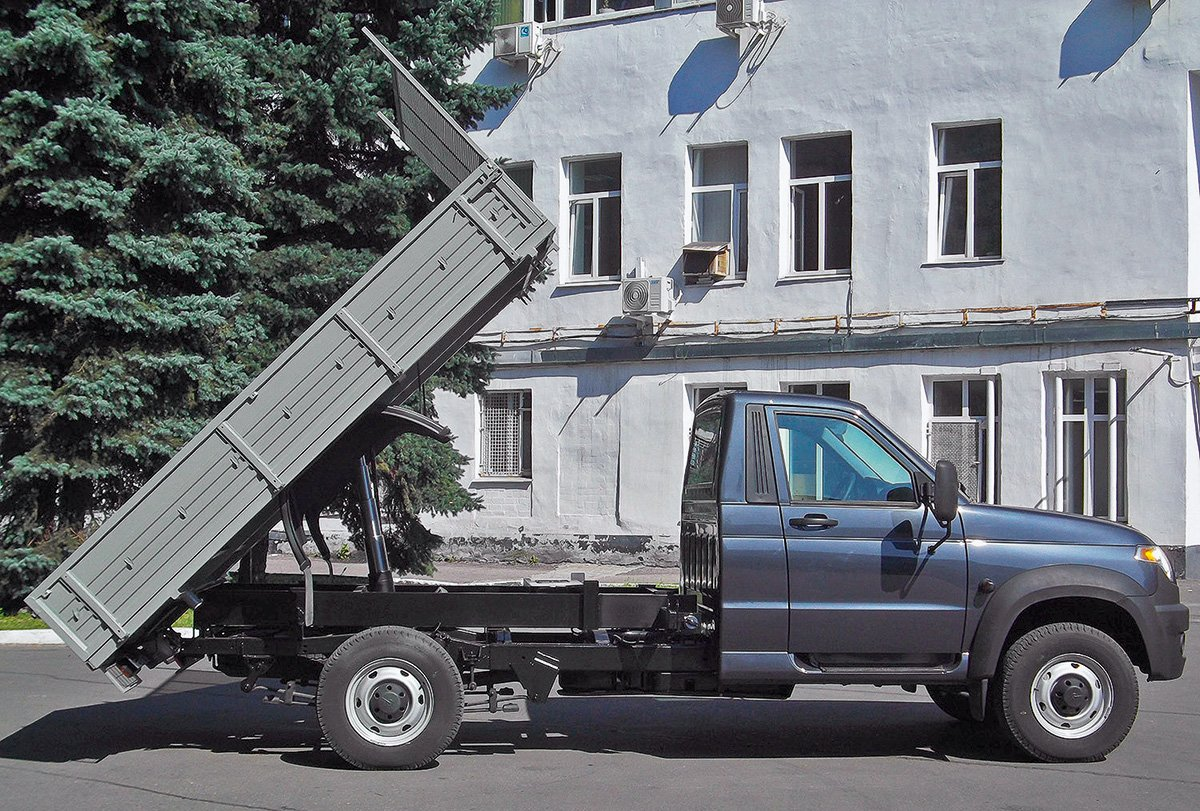 «УАЗ Профи»: автокран,  самосвал, вышка и другие необычные версии ульяновских внедорожников