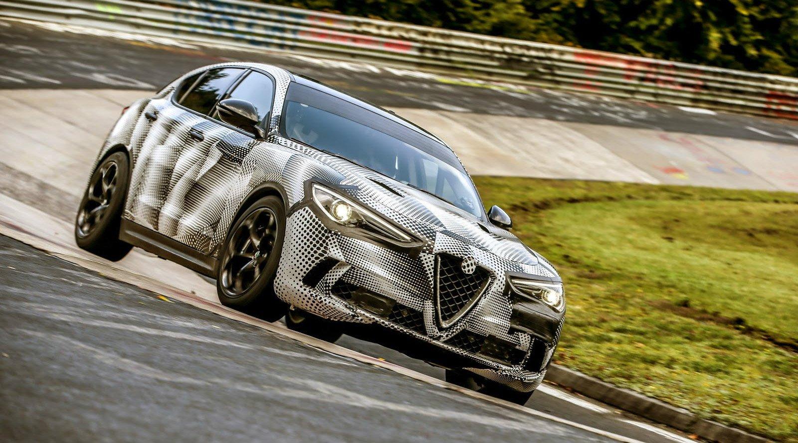 Alfa Romeo Stelvio Quadrifoglio обогнала Cayenne Turbo S