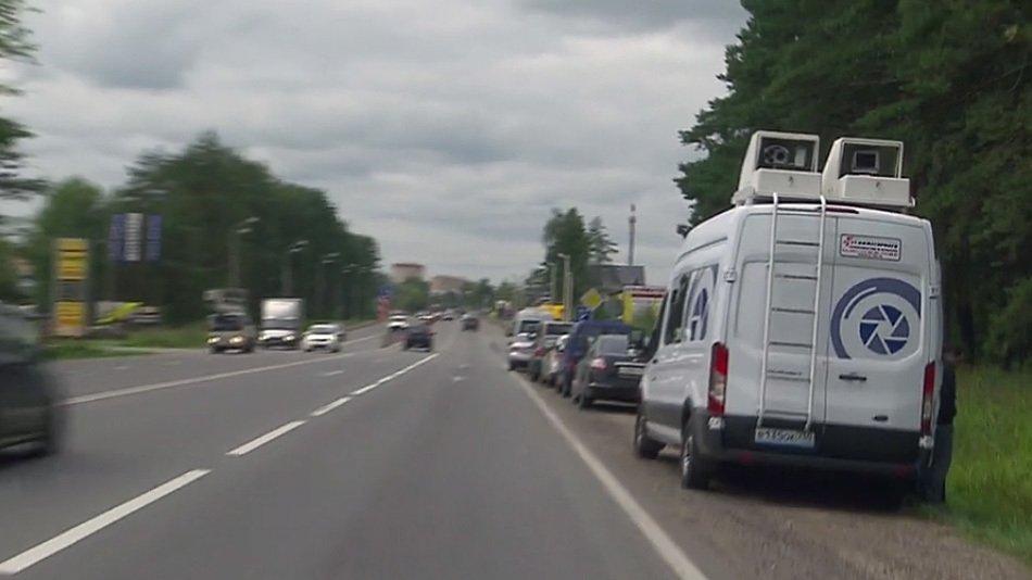 В Подмосковье испытывают новые передвижные камеры фиксации нарушений ПДД