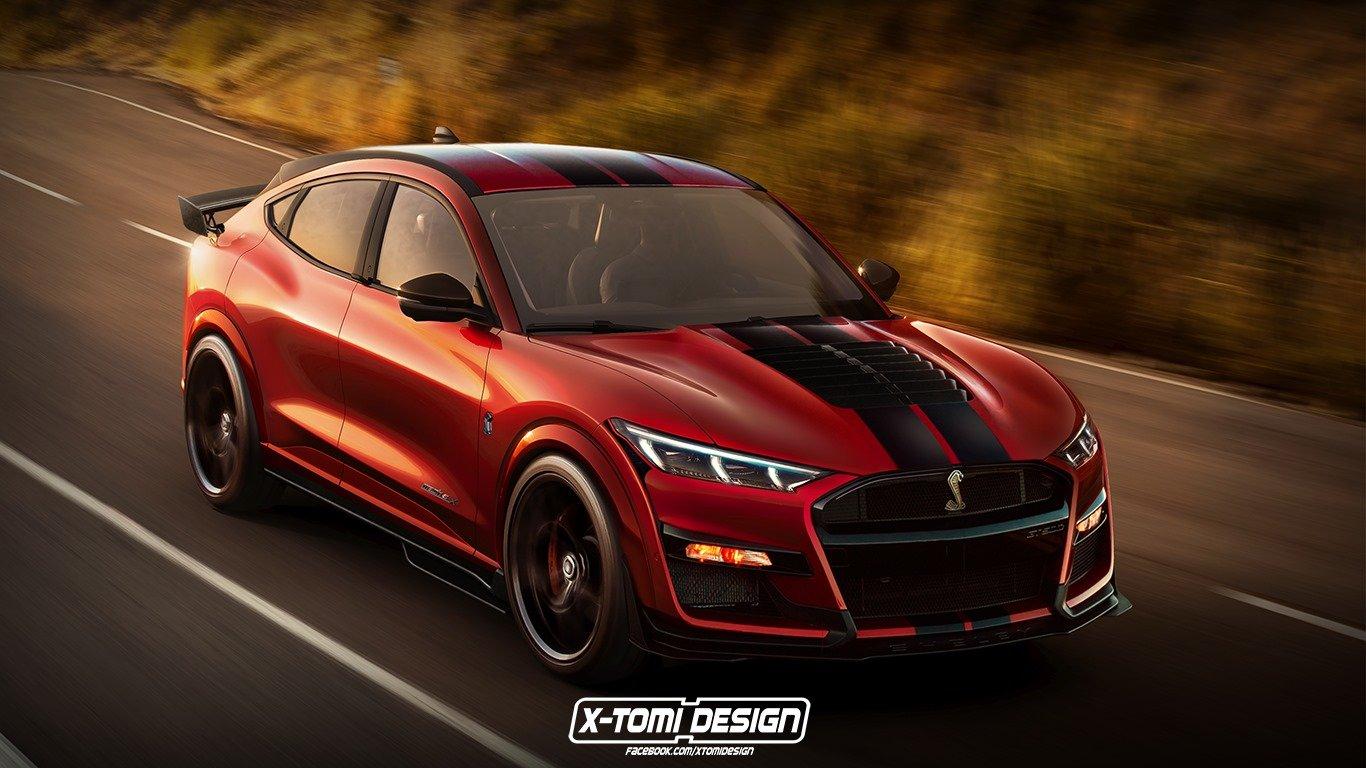 Независимые дизайнеры показали, каким может быть Ford Mustang Mach-E в версии Shelby GT500