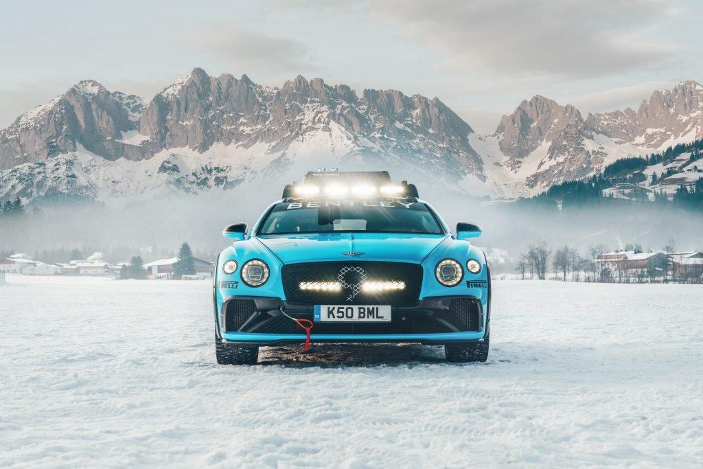 Bentley Continental GT навострил лыжи в сторону ледовых гонок