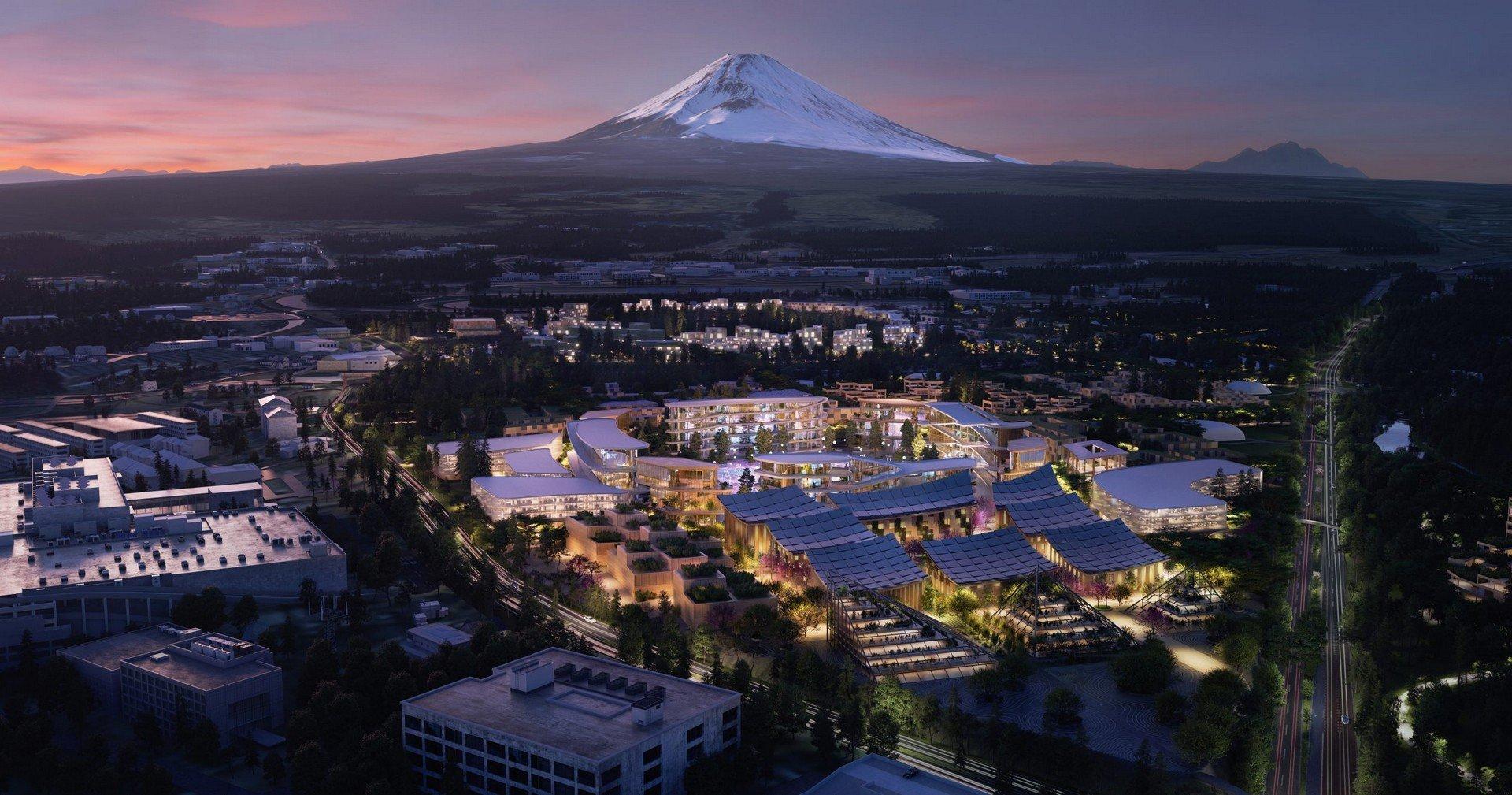 Тойота построит город будущего Woven City у подножья Фудзиямы (видео)