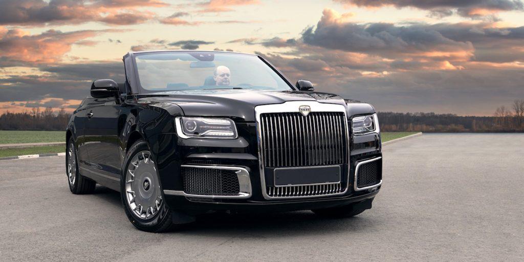 В Москве поставили на учет кабриолет Aurus для частного заказчика
