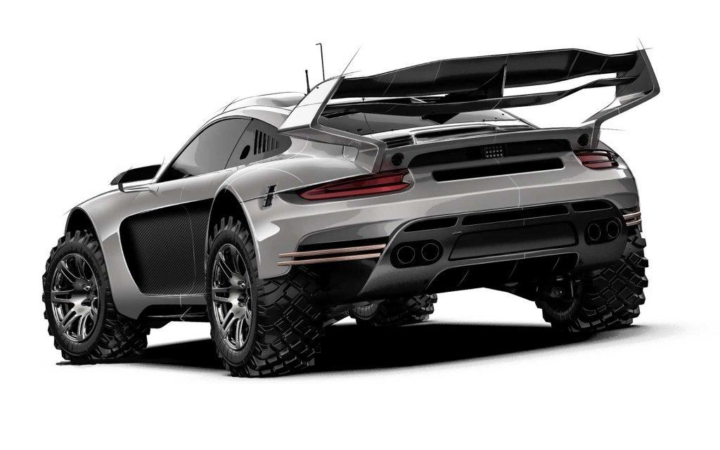 Gemballa готовит безумный внедорожник на базе Porsche 911