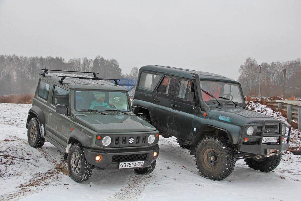 УАЗ «Хантер» или Suzuki Jimny? Топор  против катаны