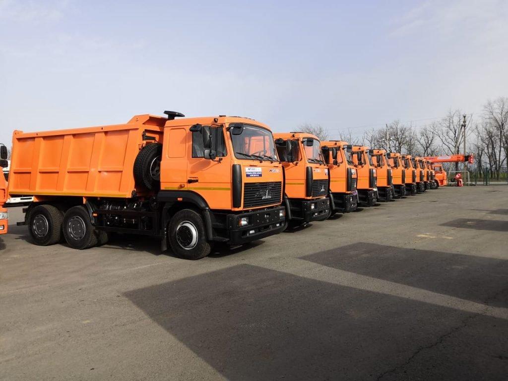 Точно в срок: «Русбизнесавто» отгрузило 10 самосвалов МАЗ в Ростовскую область
