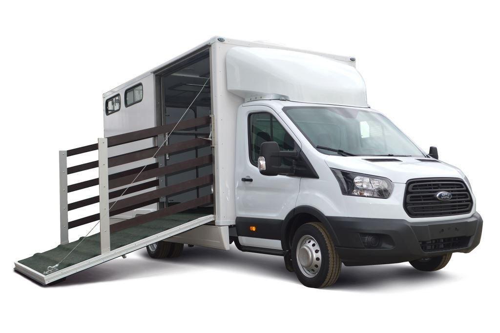 На базе Ford Transit сделан автомобиль-коневозка